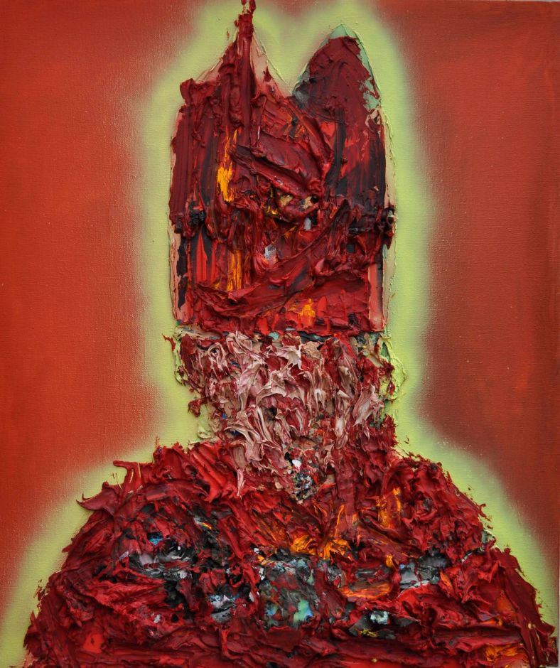 Benedict XVI (Saatchi Collection) Oil and Wax on Linen 70cm x 60cm