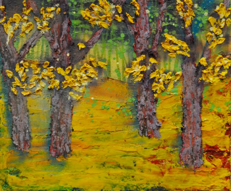 Ramble 50cm x 60cm  Oil on Canvas